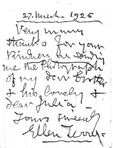 Ellen Terry's letter.