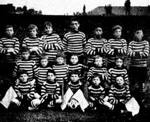 The football team at Croydon in 1906.
