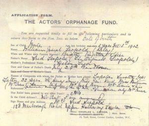 A 1907 application form.