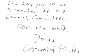 A letter from Harold Pinter